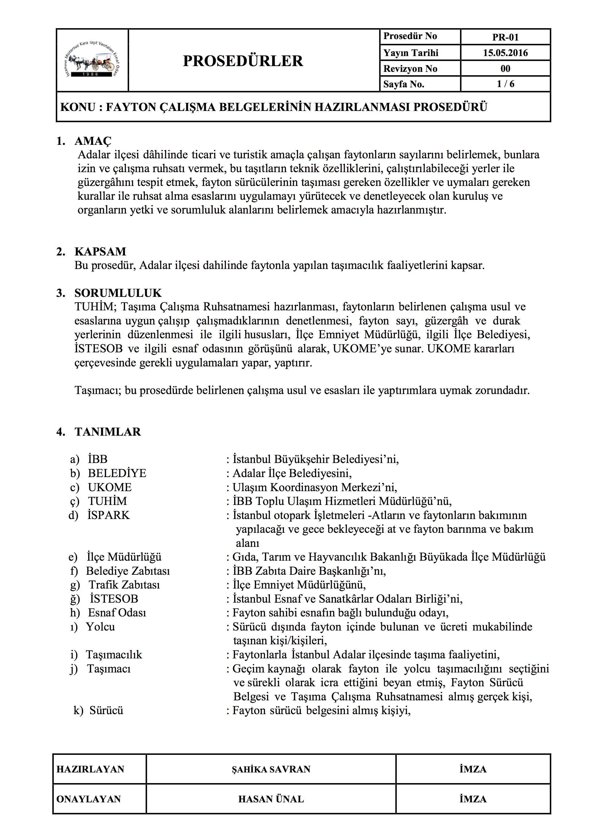 Çalışma belgeleri